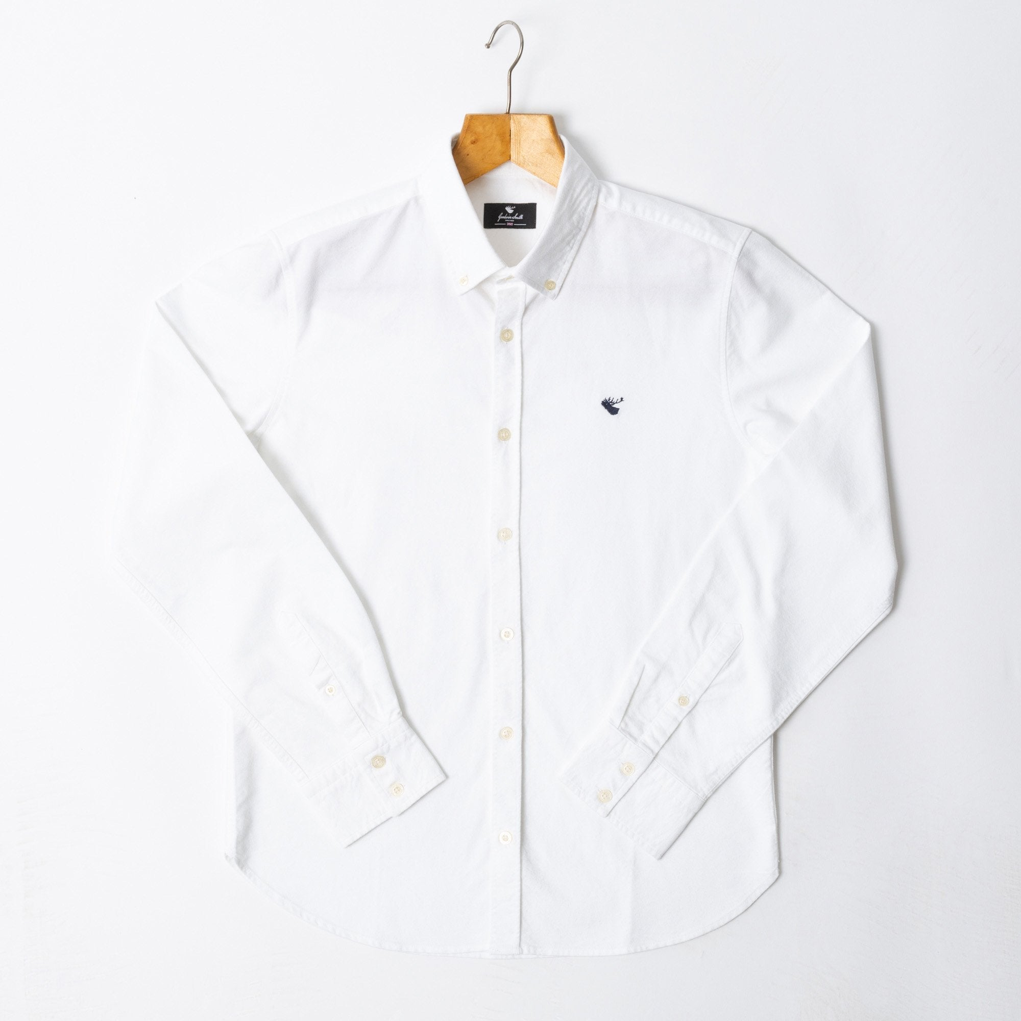 Goodwin Smith Clothing S / White / Cotton ARGYLE WHITE