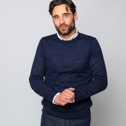 Goodwin Smith Clothing S / Navy / Merino Wool CASTERTON NAVY