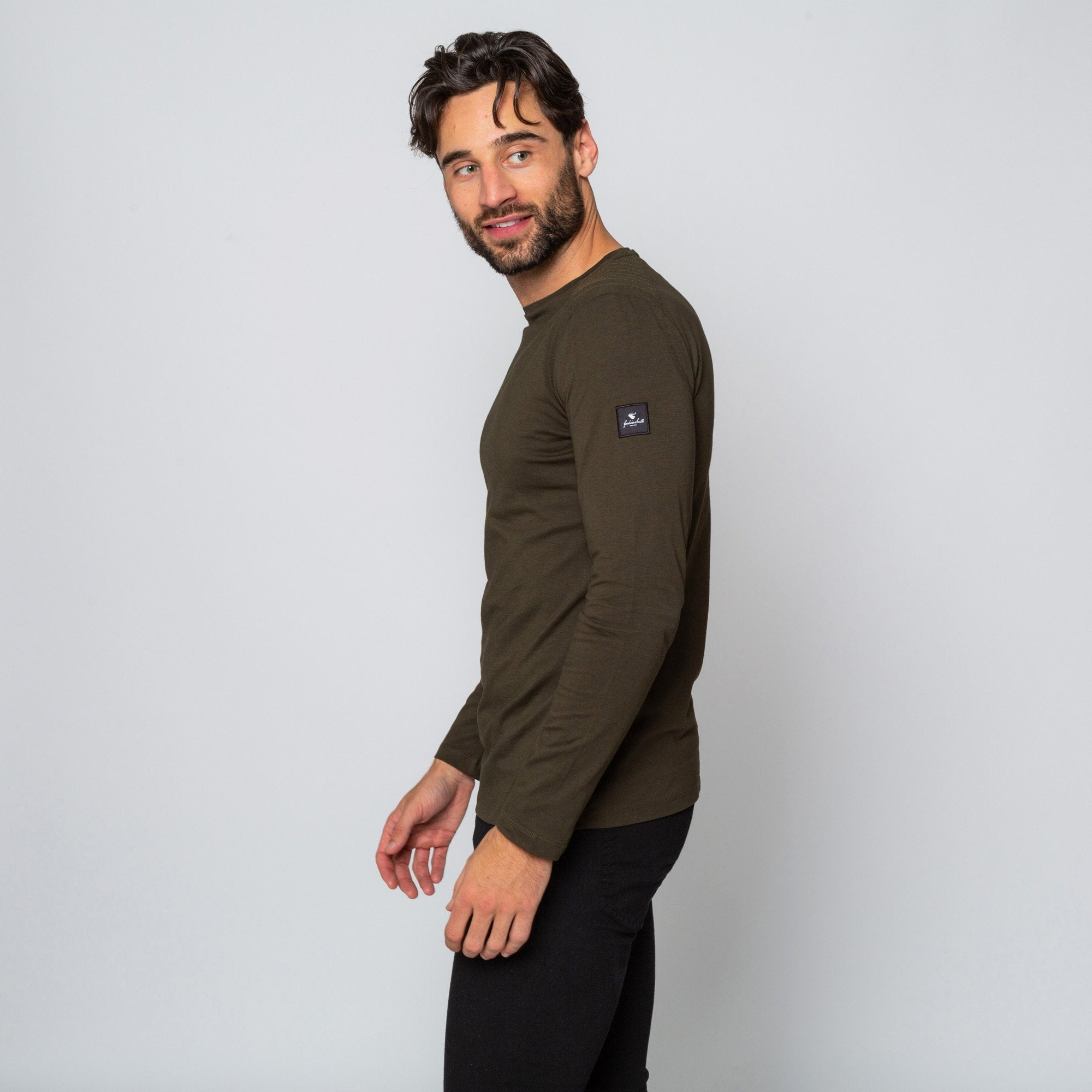 Goodwin Smith Clothing S / Khaki / Cotton GRASSINGTON KHAKI