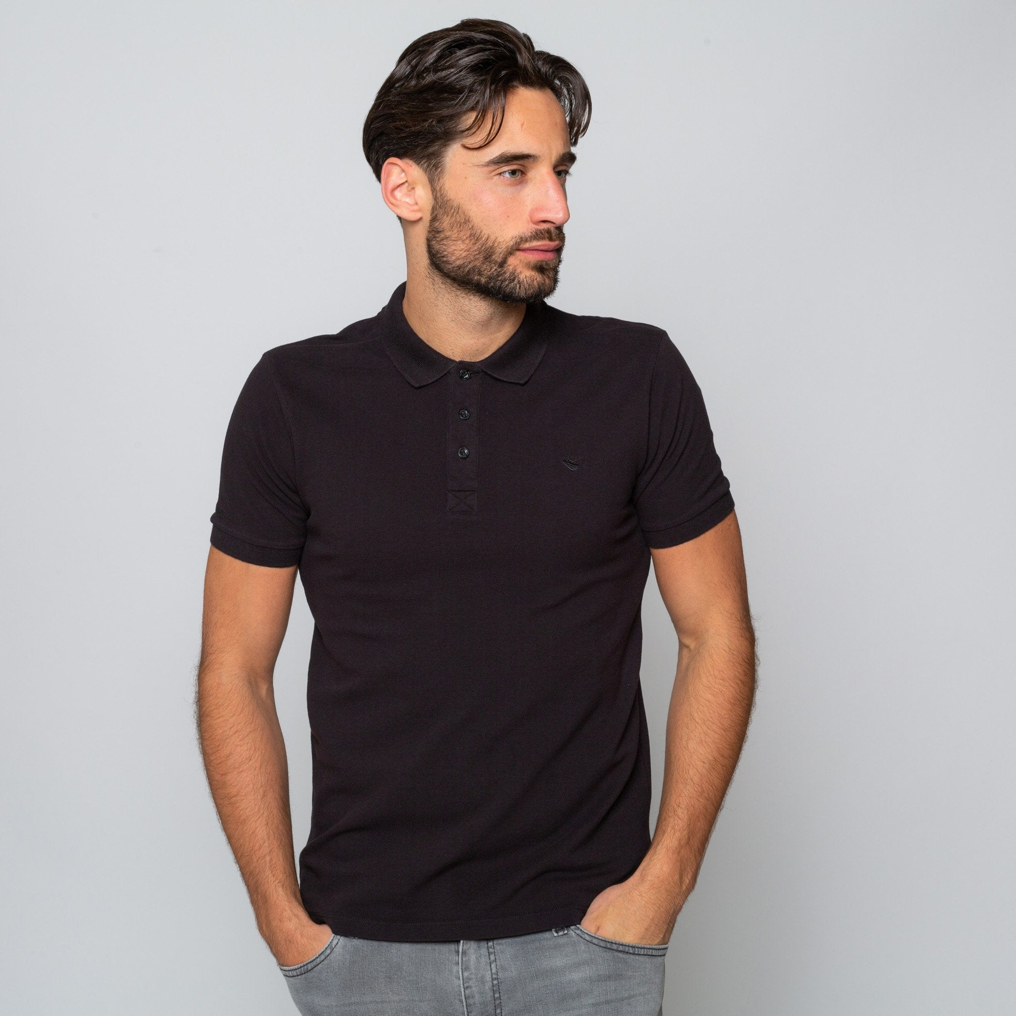 Goodwin Smith Clothing S / Black / Cotton Pique HEWITT BLACK