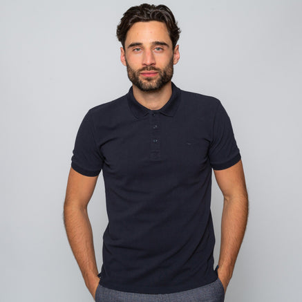 Goodwin Smith Clothing S / Navy / Cotton Pique HEWITT NAVY
