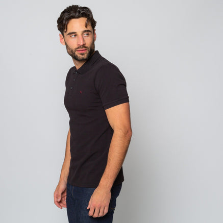Goodwin Smith Clothing S / Black / Cotton Pique HINCHLEY BLACK