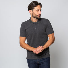 Goodwin Smith Clothing S / Charcoal / Cotton Pique HINCHLEY CHARCOAL