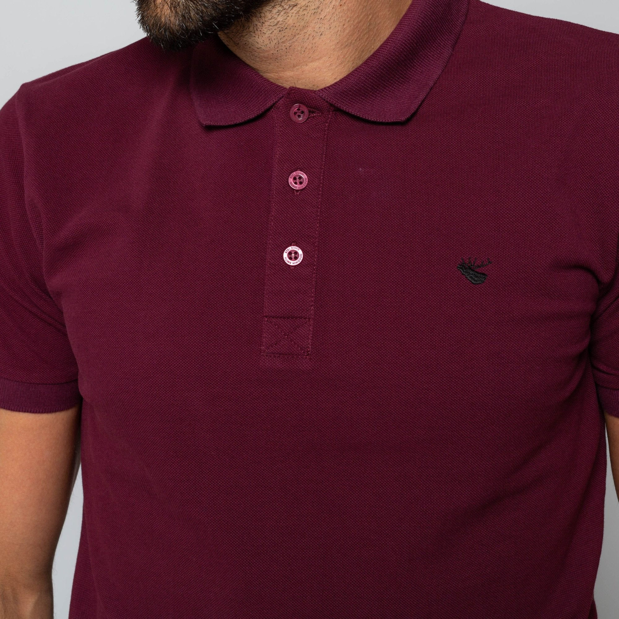 Goodwin Smith Clothing S / Maroon / Cotton Pique HINCHLEY MAROON
