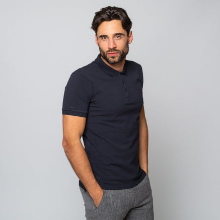 Goodwin Smith Clothing S / Navy / Cotton Pique HINCHLEY NAVY