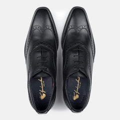 Goodwin Smith Footwear Albany Black Winged Toe Leather Oxford Shoe