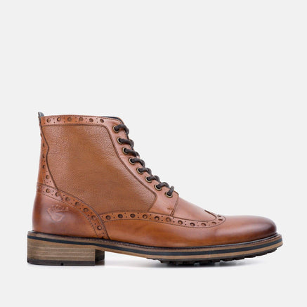 Goodwin Smith Footwear Archer Tan Smart Casual Leather Brogue Boot