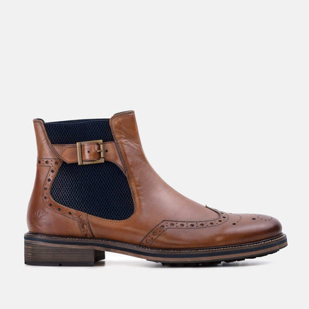 Goodwin Smith Footwear Aspen Tan Smart Casual Leather Chelsea Boot