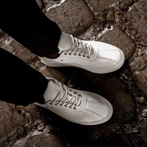 Goodwin Smith Footwear AW19 Lex White Smart Leather Plimsoll