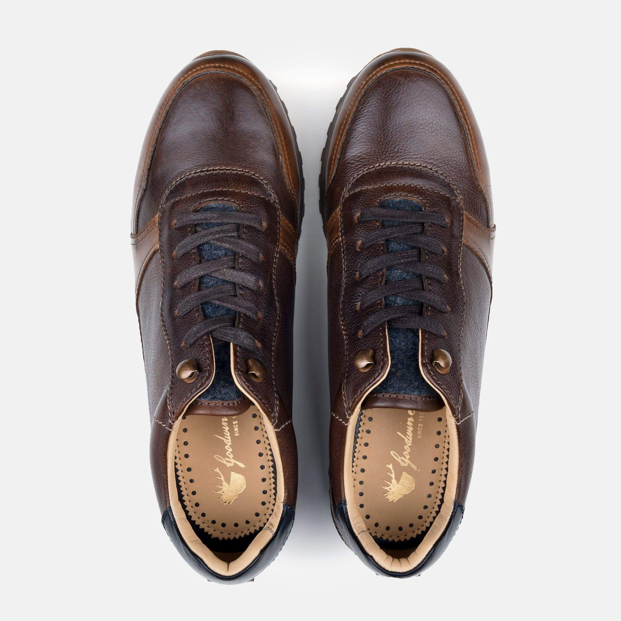 Goodwin Smith Footwear AW19 MEN'S BLAKE BROWN TRAINER