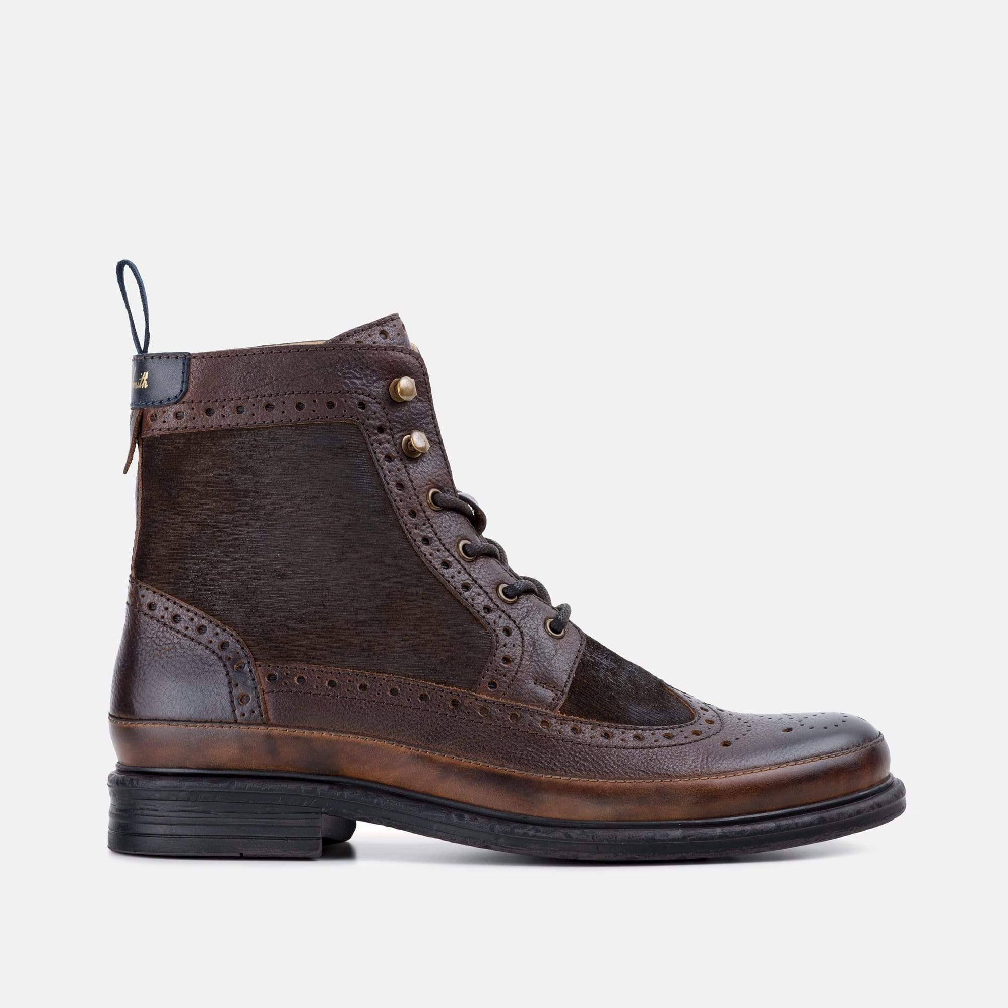 Goodwin Smith Footwear AW19 MEN'S ROWAN BROWN BROGUE BOOT