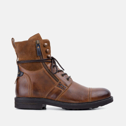 Goodwin Smith Footwear AW19 MENS ISAAC TAN MILITARY BOOT