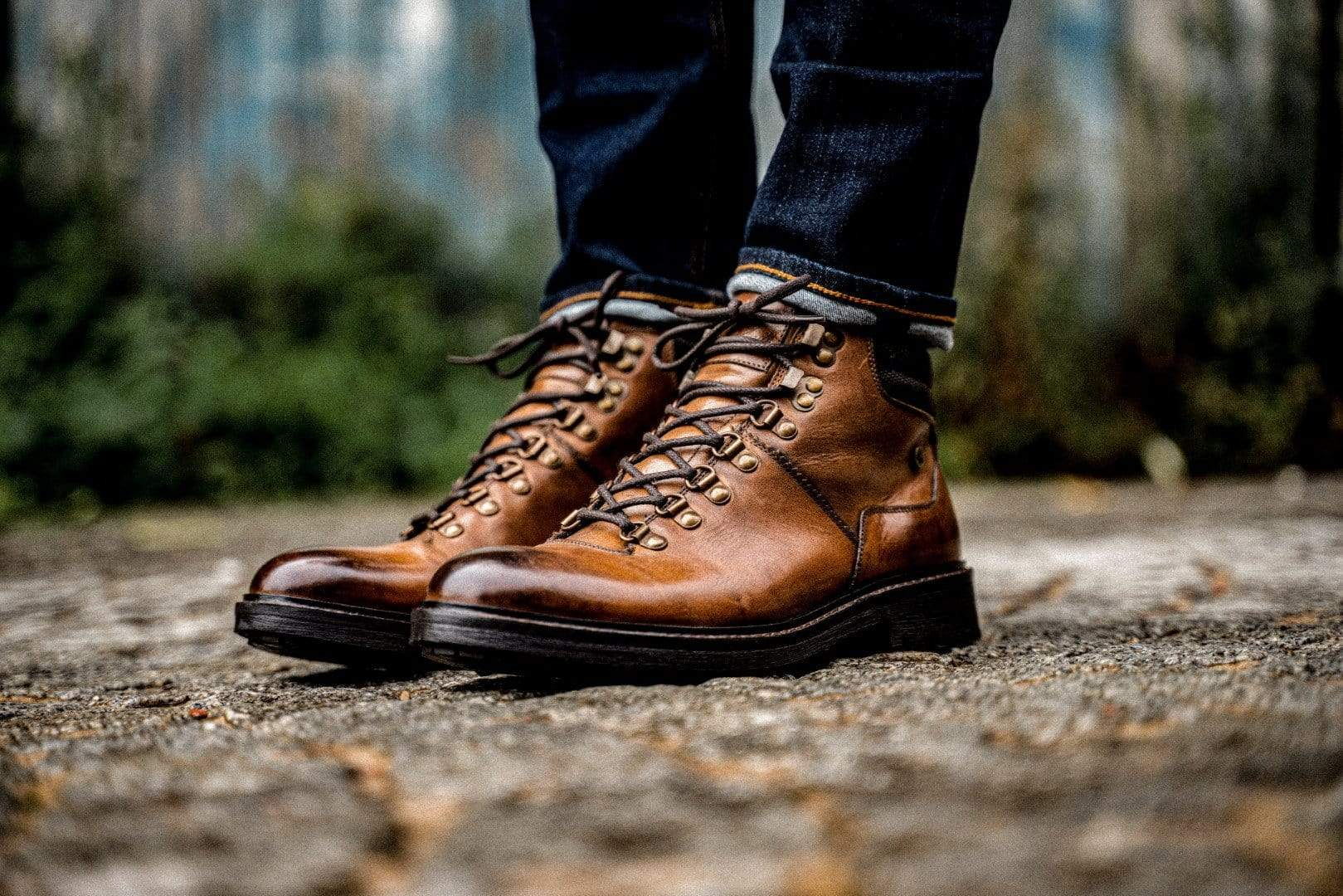 Goodwin Smith Footwear AW19 Tremont Tan Hiker Inspired Leather Boot