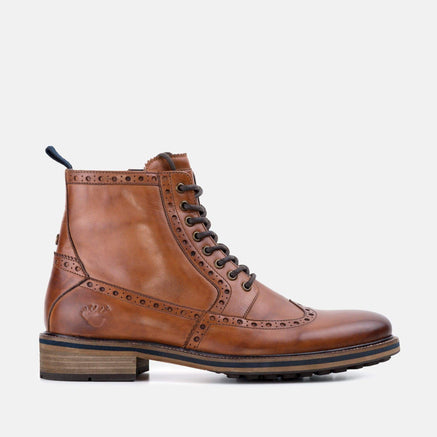 Goodwin Smith Footwear Burton Tan Smart Casual Leather Brogue Boot