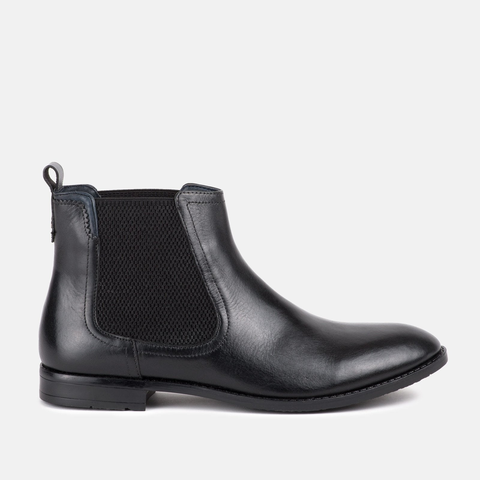 23423cae Camden Black Leather Mens Elastic Chelsea Boots | Goodwin Smith