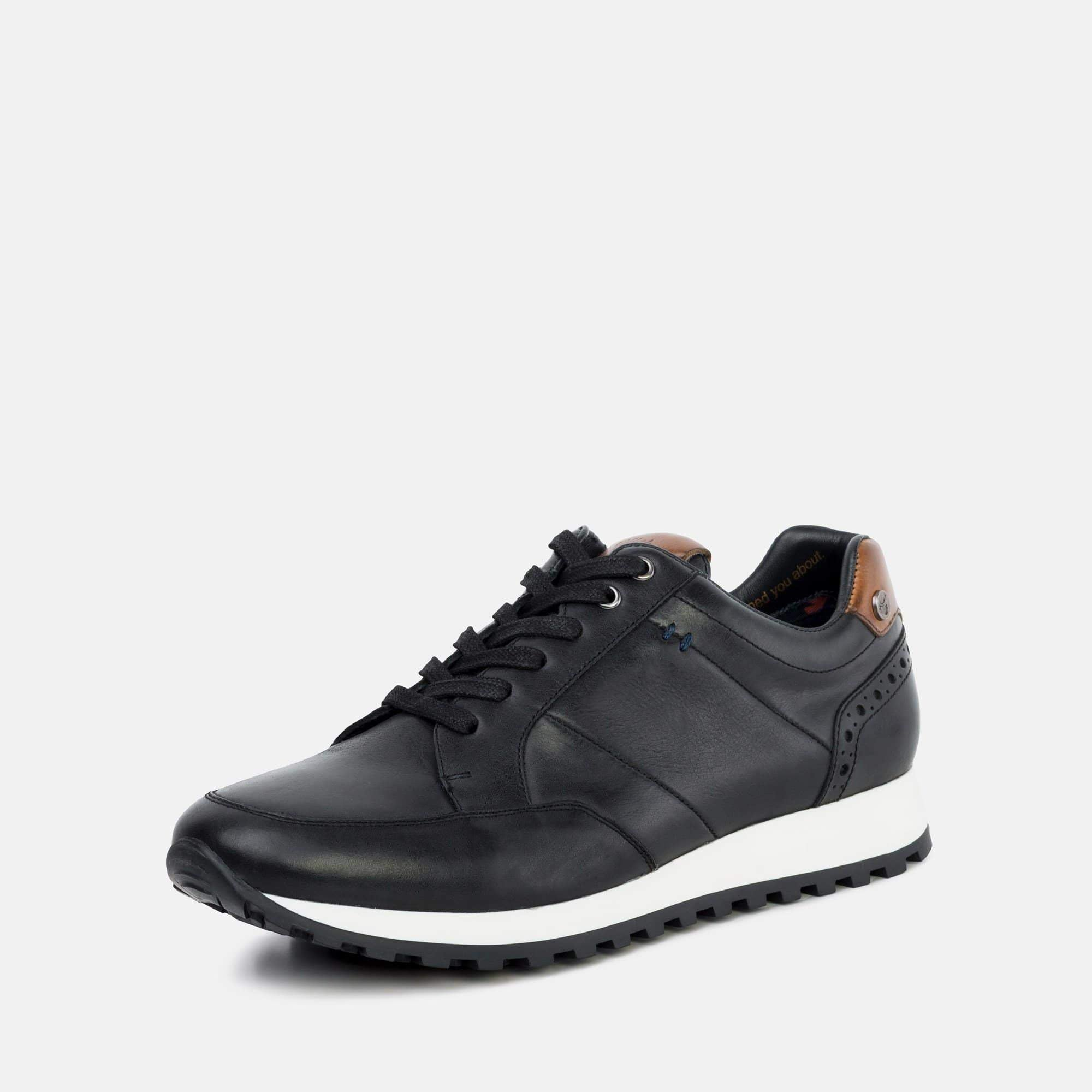 Goodwin Smith Footwear Canvey Black Smart Leather Casual Trainer
