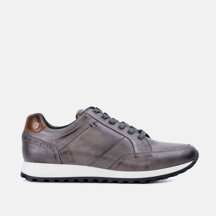 Goodwin Smith Footwear Canvey Grey Smart Leather Casual Trainer
