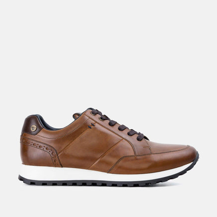 Goodwin Smith Footwear Canvey Tan Smart Leather Casual Trainer