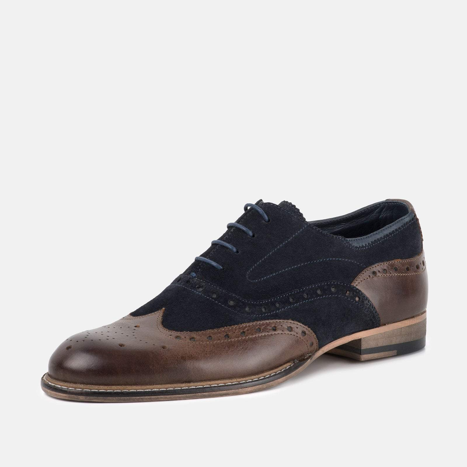 Goodwin Smith Footwear UK 6 / EURO 39 / US 7 / Navy / Leather DARWEN NAVY & BROWN