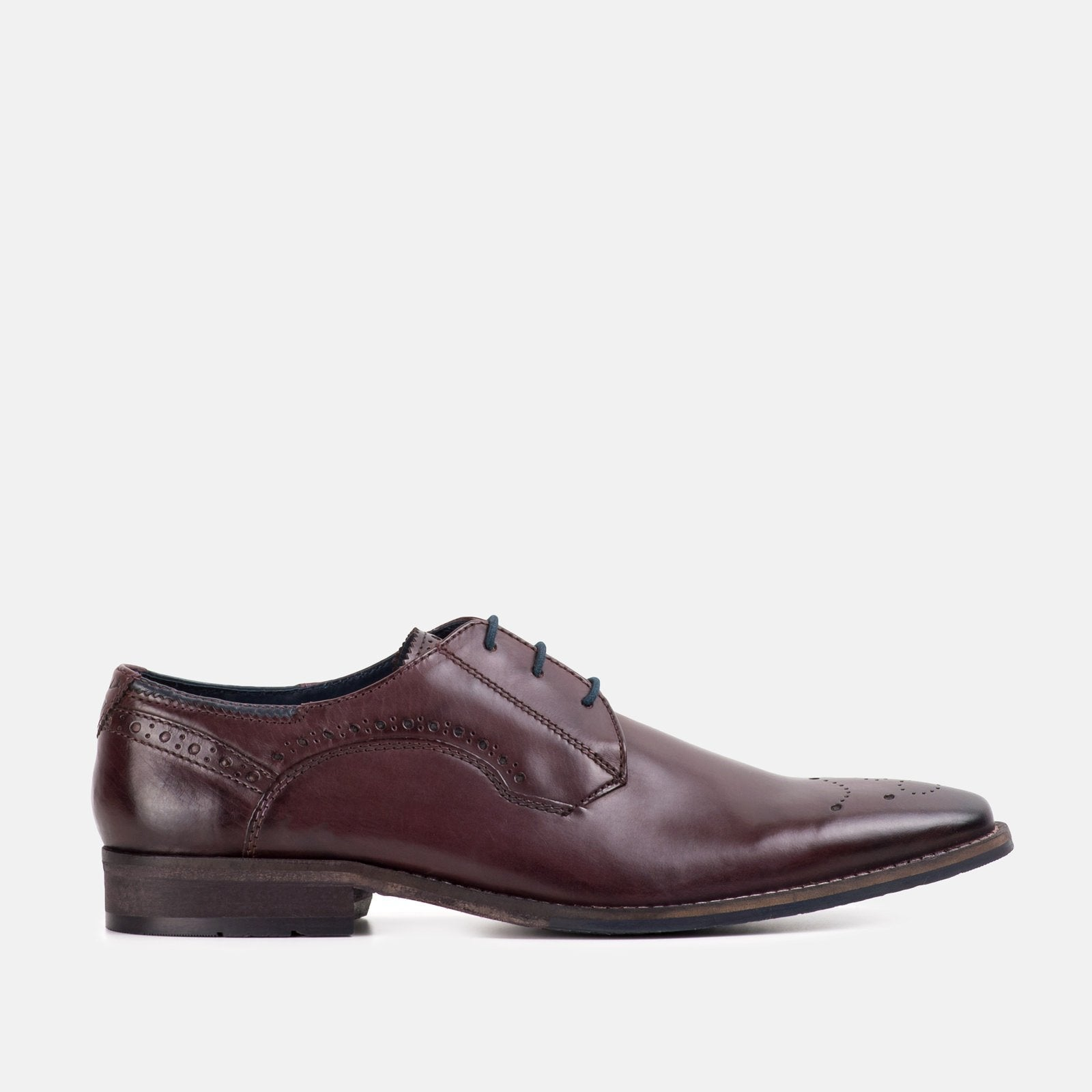 Goodwin Smith Footwear UK 6 / EURO 39 / US 7 / Aubergine / Leather HOLDEN AUBERGINE