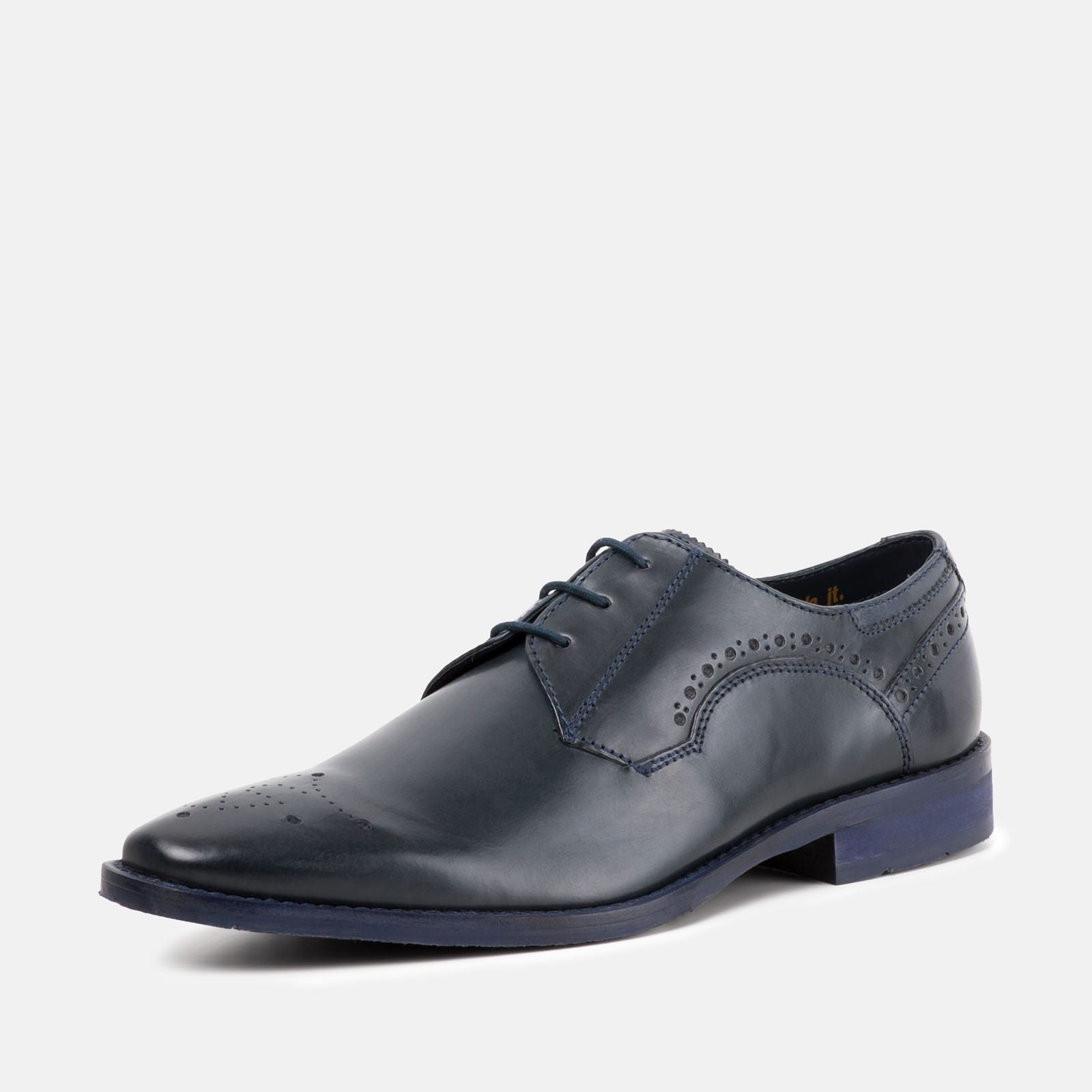 Goodwin Smith Footwear UK 6 / EURO 39 / US 7 / Blue / Leather HOLDEN NAVY