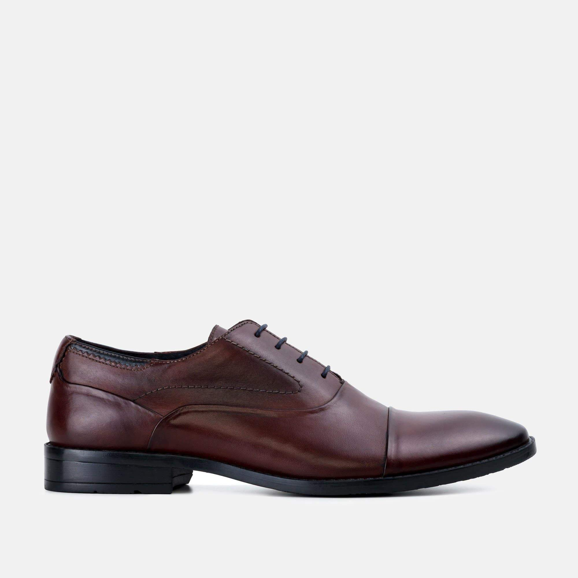 Goodwin Smith Footwear Irving Bordo Classic Leather Oxford Shoe