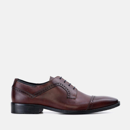 Goodwin Smith Footwear Jefferson Bordo Derby Leather Brogue Shoe