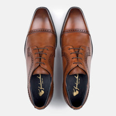 Goodwin Smith Footwear Jefferson Tan Derby Leather Brogue Shoe