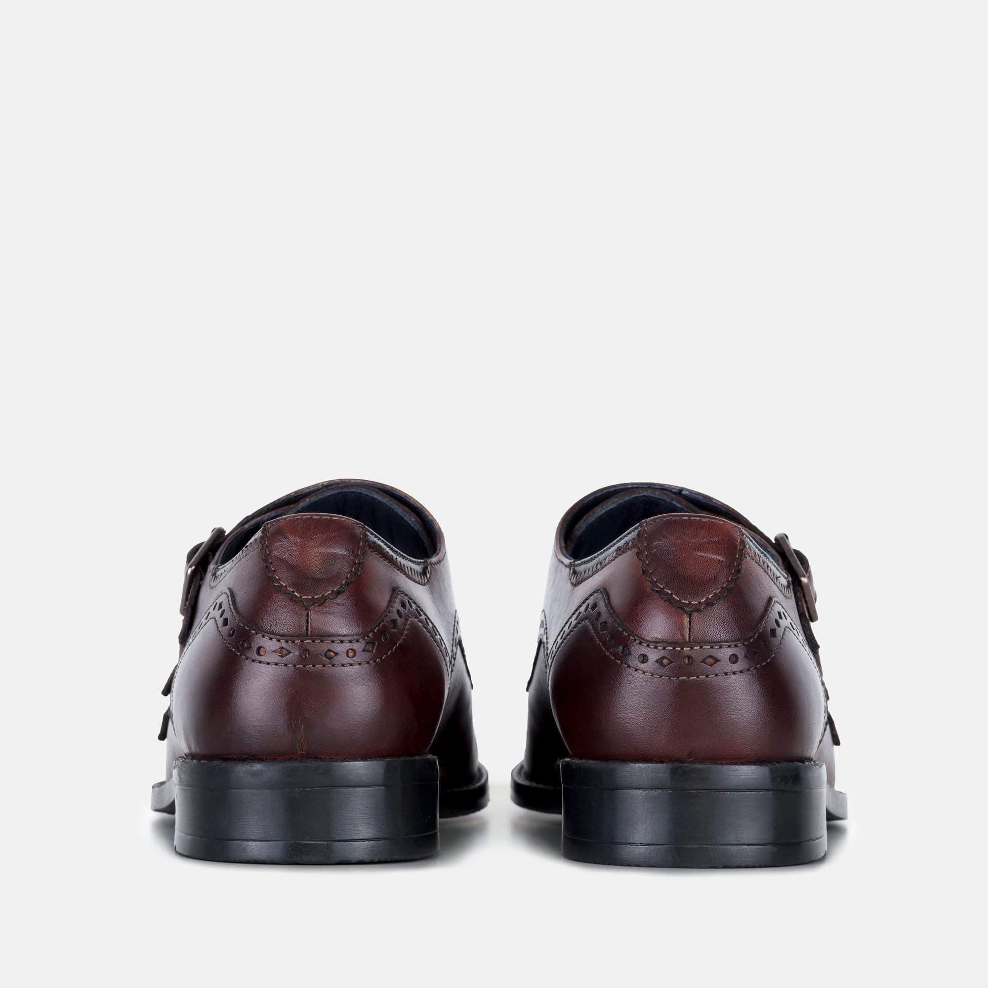 Goodwin Smith Footwear Kenwood Bordo Triple Leather Monk Strap