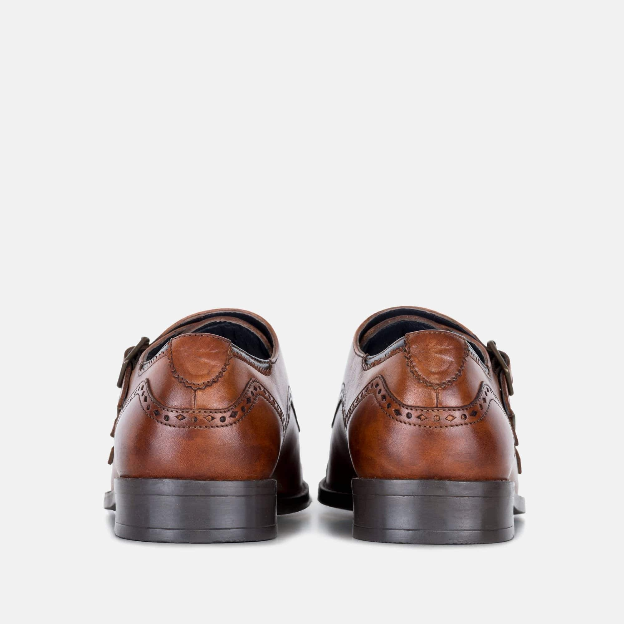 Goodwin Smith Footwear Kenwood Tan Triple Leather Monk Strap