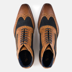 Goodwin Smith Footwear UK 6 / EURO 39 / US 7 / Navy & Tan / Leather & Suede KIRKSTON NAVY & TAN