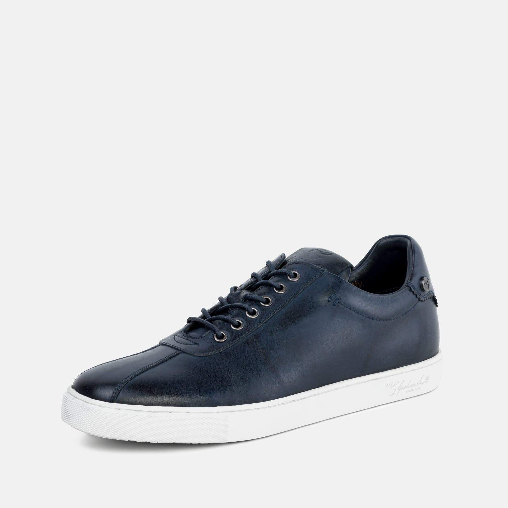Goodwin Smith Footwear Lex Blue Smart Leather Plimsoll