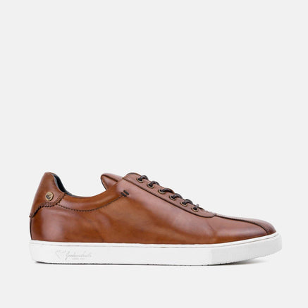 Goodwin Smith Footwear Lex Tan Smart Leather Plimsoll