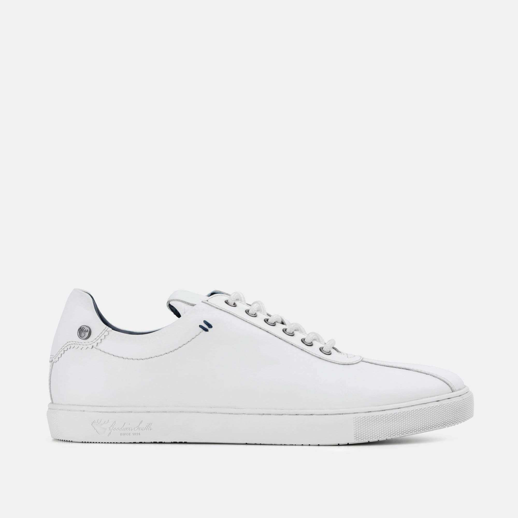 Goodwin Smith Footwear Lex White Smart Leather Plimsoll