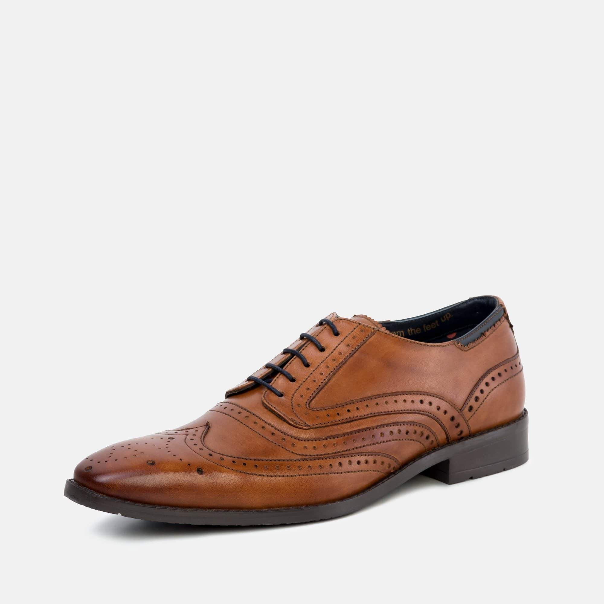 Goodwin Smith Footwear Lincoln Tan Classic Leather Derby Brogue Shoe