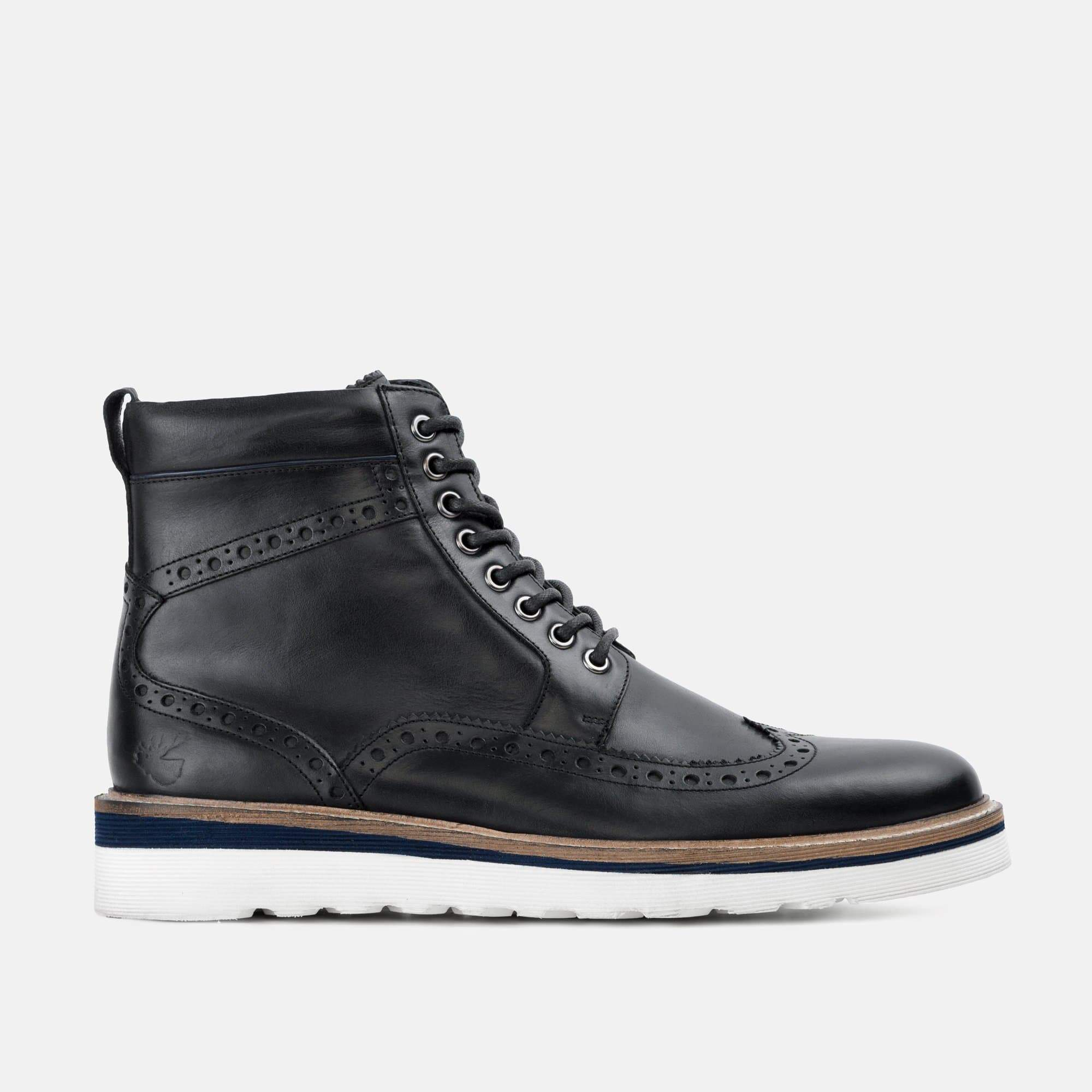 Goodwin Smith Footwear Linton Black Casual Leather Brogue Boot