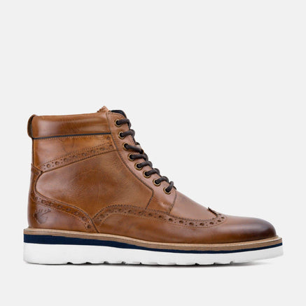 Goodwin Smith Footwear Linton Tan Casual Leather Brogue Boot