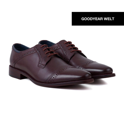 Goodwin Smith Footwear UK 6 / EURO 39 / US 7 / Bordo / Leather MALHAM BORDO - GOODYEAR WELT