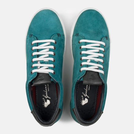 Goodwin Smith Footwear UK 6 / EURO 39 / US 7 / Teal / Suede MATHEWS TEAL