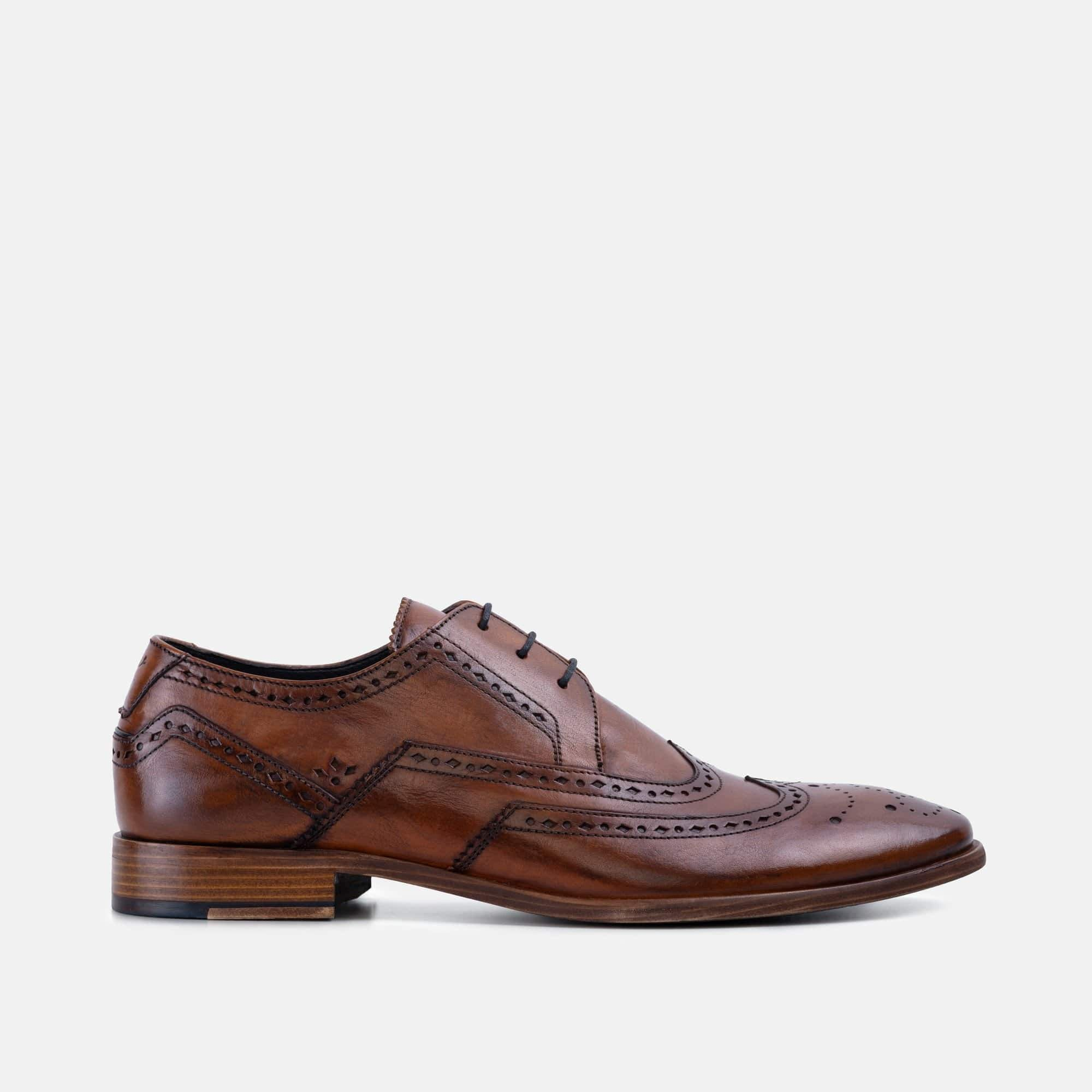 Mens daniel tan summer derby brogue shoe