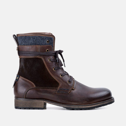 Goodwin Smith Footwear MENS ELI BROWN MILITARY BOOT