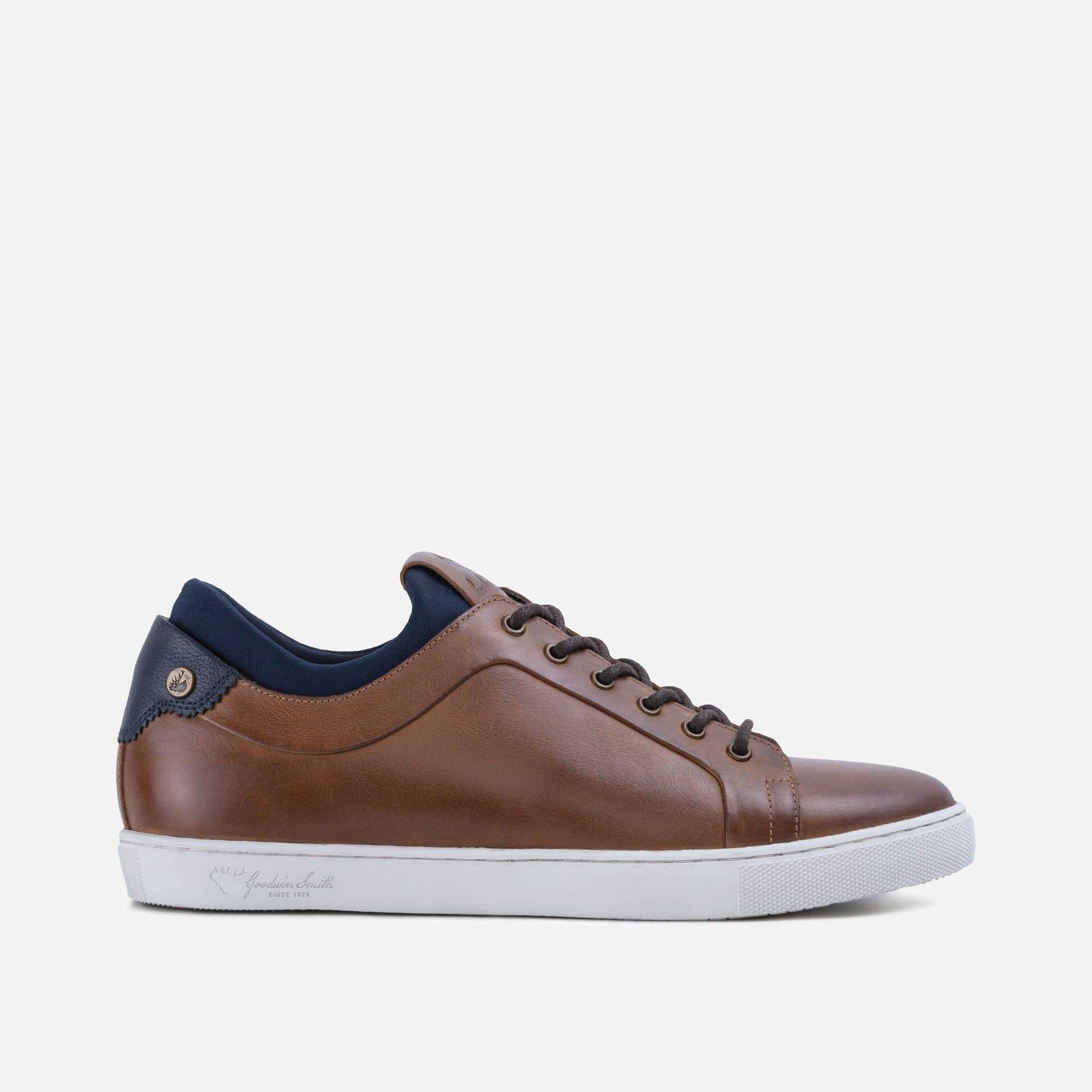 Mens tan smart plimsoll style trainer