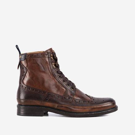 Goodwin Smith Footwear MENS GS ARTISAN BENNETT BROWN TAN BROGUE BOOT