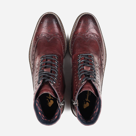 Goodwin Smith Footwear MENS GS BAXTER BORDO BROGUE BOOT