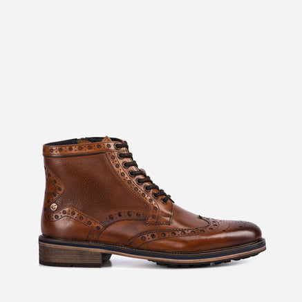 Goodwin Smith Footwear MENS GS BAXTER TAN BROGUE BOOT