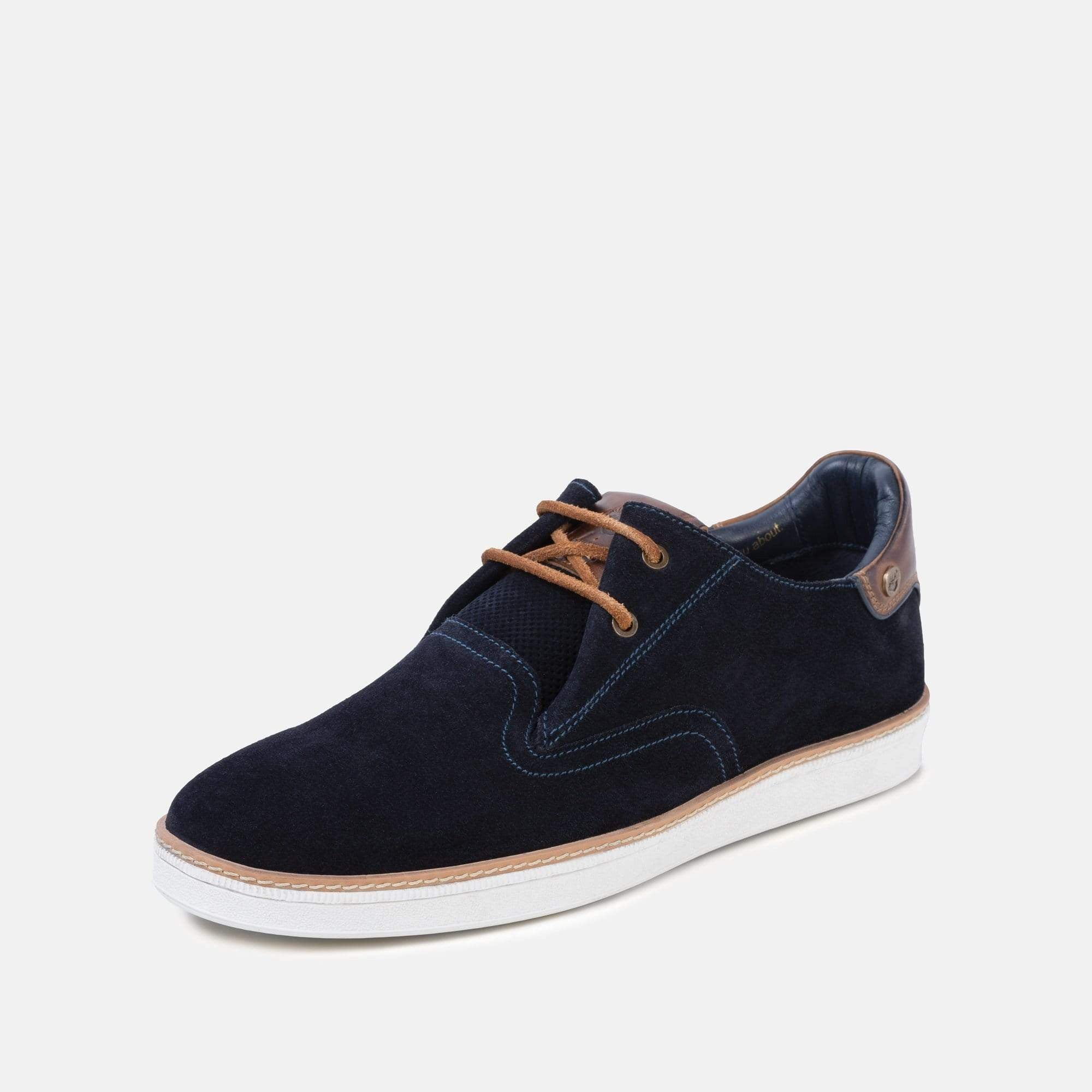 Summery casual suede lace up plimsoll shoe for men