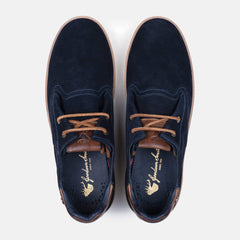 Lace type up full cow suede upper mens plimsolls