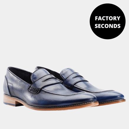 Goodwin Smith Footwear NAVY BRISBANE MOCC SHOE FACTORY SECONDS - (UP TO SIZE 14)
