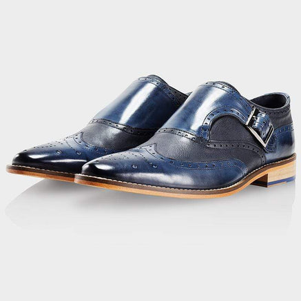 Goodwin Smith Footwear NAVY MONKSTRAP BUCKLEY SHOE FACTORY SECONDS
