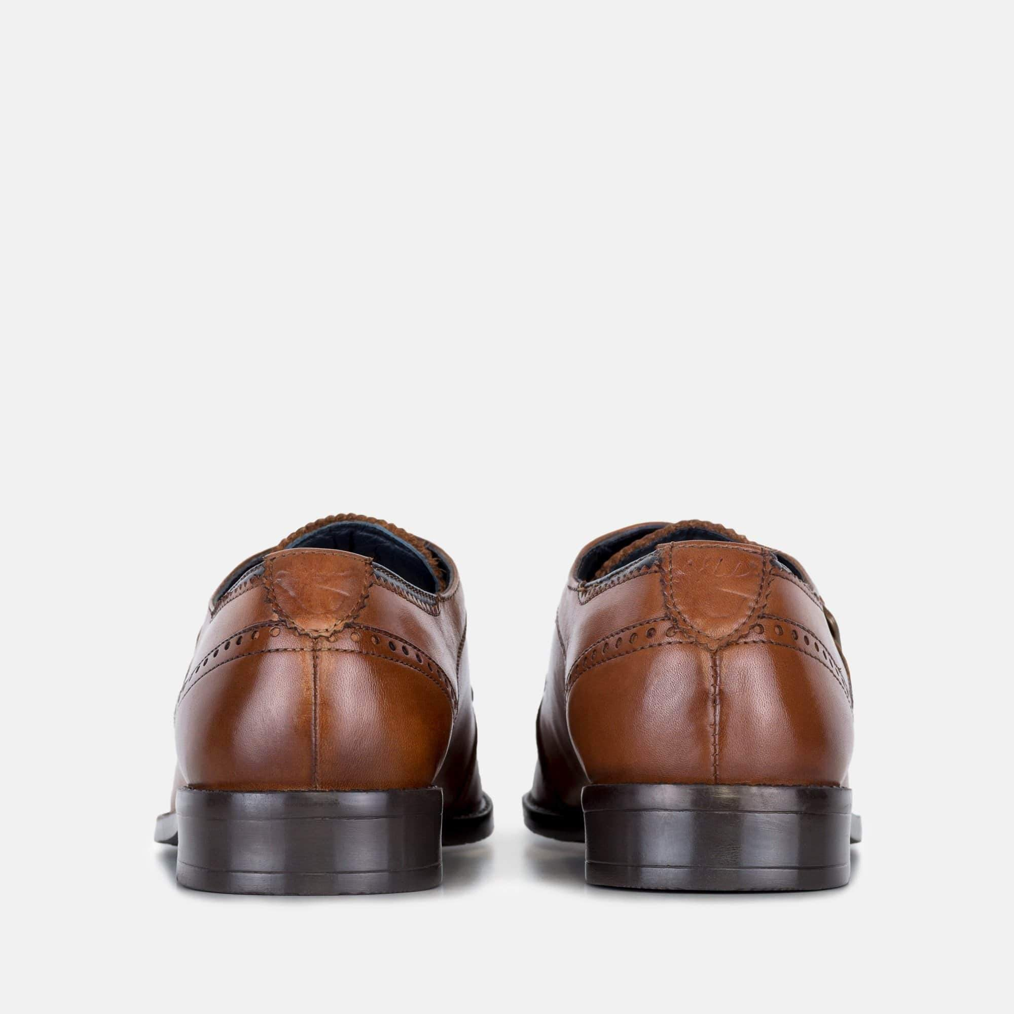 Goodwin Smith Footwear Parker Tan Leather Monk Strap Shoe